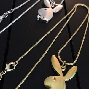 "Other - Two 20"" Gold and Silver Plated Playboy Necklaces"